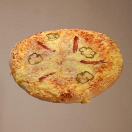 Πίτσα με Ζαμπόν Μαγιάς Οικογενειακή